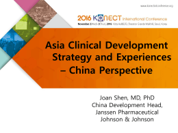 S6-3_Joan Shen_Clinical Development in China Myths and Facts