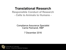 Translational Research - University of Colorado Denver