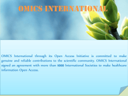 ******* 1 - OMICS International