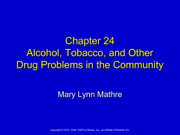 Ch.24.Alcohol.Tobacco.and Others