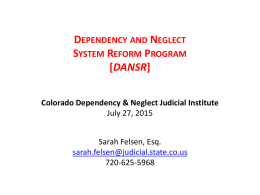 DANSR Presentation - Colorado Judicial Branch