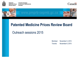 Canada`s Patented Medicine Prices Review Board