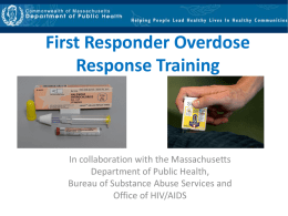 First Responder Overdose Response Training