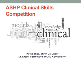 Clinical Skills Competition