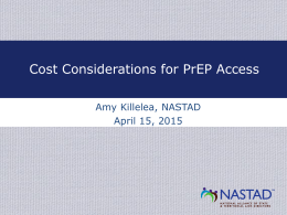 Cost Considerations for PrEP Access