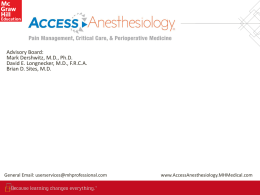 AccessAnesthesiology Complete Overview 2016