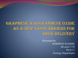 Graphene and Graphene oxide as a new nanocarriers for drug