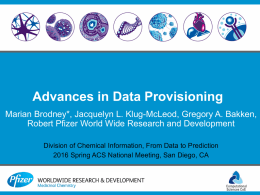 32) `Advances in data provisioning`