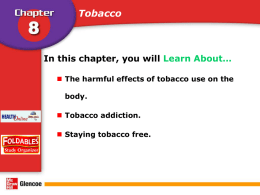 Chap8Less1 Why tobacco is harmful