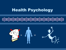 Health Psychology - Le Moyne College