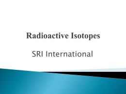 Radioactive Isotopes - IISME Community Site