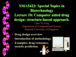 Lect 10:Computer aided drug design: structure-based