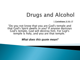 Drugs and Alcohol - All Saints` Catholic Academy