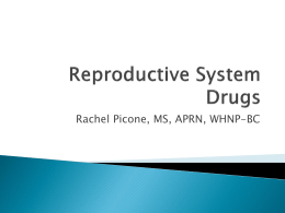 Reproductive System Drugs