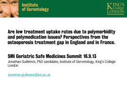 Ageing and treatment gaps 2013 09 13