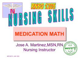 02-1205 Medication Math