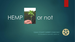 Hemp Expo Yuma County Sheriff Chad Day