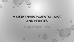 Environmental Laws and Treaties Notes