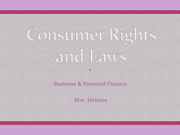 Consumer Rights and Laws