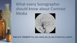 What every Sonographer should know about Contrast Media