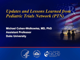 overview of PTN activities and lessons learned in 2012