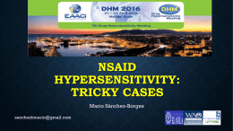 nsaid hypersensitivity: tricky cases
