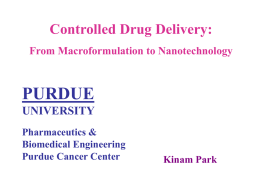 Oral Drug Delivery - Purdue University