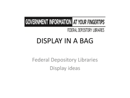 display in a bag