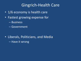 Gingrich-Health Care