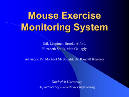 Mouse Exercise Monitoring System - Research