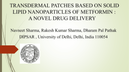 transdermal patches based on solid lipid