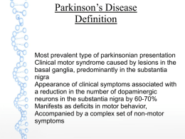 Parkinson`s Disease Definition