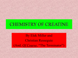 CHEMISTRY OF CREATINE