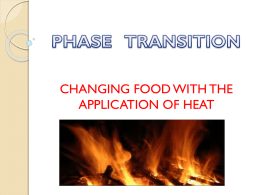 Phase Transition: Changing Food with the Application of Heat