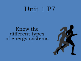 Energy Systems Unit 1 P7