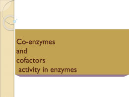 Co Enzyme Lecture