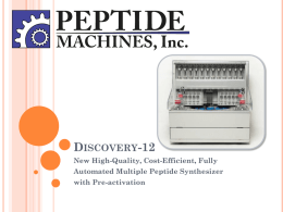 - Peptide Machines, Inc.