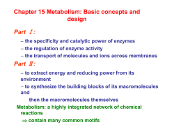 Chapter 15 Metabolism: Basic concepts and design Part Ⅰ