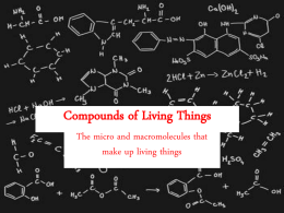 Compounds of Life