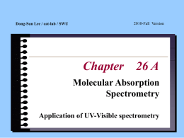 UV-vis-spectrometry applications, Flow Injection Analysis
