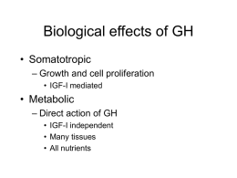 Biological effects of GH