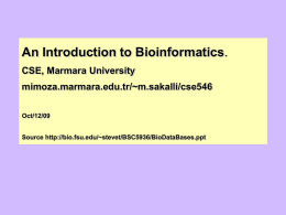 BioInformatics at FSU - whose job is it and why it needs