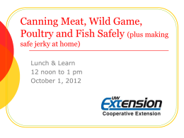 OPEN HOUSE - Food safety