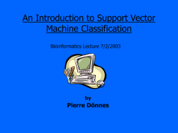 An introduction to Support Vector Machines - uni