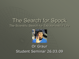The Search for Spock The Scientific Search for