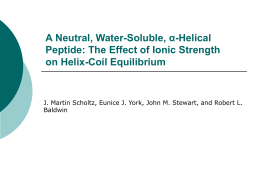 A Neutral, Water-Soluble, α-Helical Peptide: The Effect of