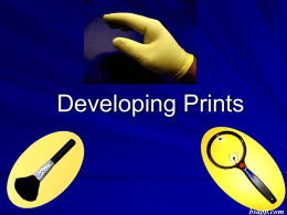 Developing Prints - Sapp's Instructional Websites