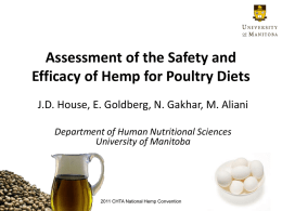 Hemp & Poultry - Canadian Hemp Trade Alliance