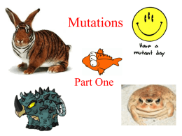 Mutations - The Super Heroes of Biology