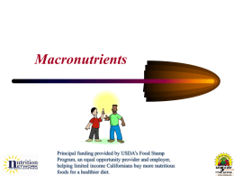 Identifying Macronutrients - School Nutrition and Fitness